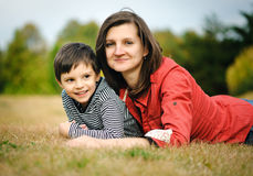 Mother with her son Royalty Free Stock Image