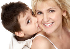 Mother and her son Royalty Free Stock Photos