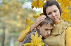 Mother with her son Stock Photos