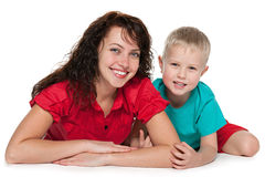 Mother and her son Stock Images