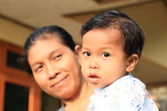 Mother and her son Stock Photography