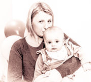 Mother and her son portrait Royalty Free Stock Image