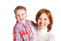 Mother and her son together Stock Photo