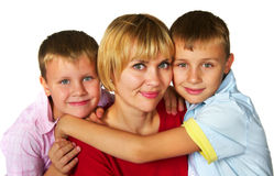 Mother with her sons Stock Images