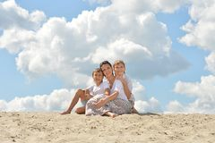 Mother and her sons Royalty Free Stock Photo