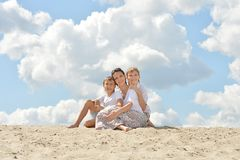 Mother with her sons Stock Photo