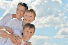 Mother with her sons Stock Photography