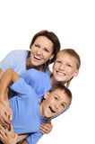 Mother with her sons Royalty Free Stock Photography