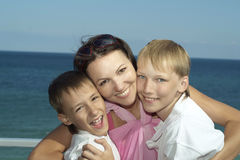 Mother with her sons Royalty Free Stock Photo