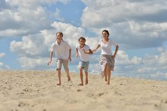 Mother with her sons Royalty Free Stock Image