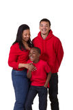 A mother and her 2 sons. On white Stock Photography