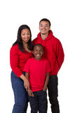 A mother and her 2 sons. On white Royalty Free Stock Photos