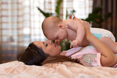 Mother and  her sweet  baby Stock Photos