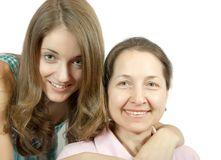 Mother and her teen daughter Stock Photo
