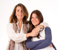 A mother and her teen daughter Stock Images