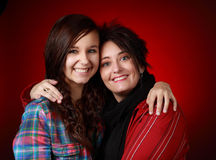 Mother with her teen girl Stock Images