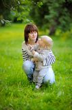 Mother with her toddler son Royalty Free Stock Photos