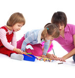 Mother and her two daughters Royalty Free Stock Photo