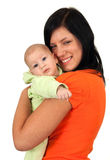 Mother and her two month old son Stock Images