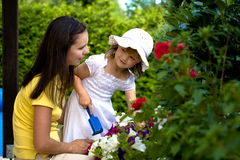 A mother with her young daughter Stock Photography