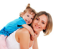 Mother and her young daughter Royalty Free Stock Photo