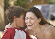 Mother and her young son, close-up Stock Photography