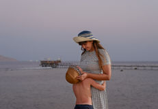 Mother and her young son enjoy a tender moment Stock Photography