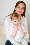 Mother and her youngest son Stock Image
