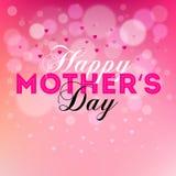 Mother& heureux x27 ; conception des textes de jour de s Images stock
