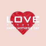 Mother& heureux x27 ; fond de jour de s Fond Photographie stock libre de droits