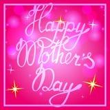 Mother& heureux x27 ; jour de s sur le fond de bokeh Photographie stock