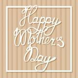 Mother& heureux x27 ; jour de s sur le fond de carton Photographie stock libre de droits
