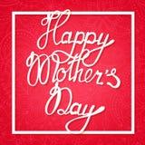 Mother& heureux x27 ; jour de s sur le fond floral Photo libre de droits