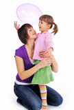 Mother and his  daughter Stock Images