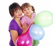 Mother and his daughter Royalty Free Stock Photos