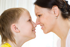 Mother with his son Royalty Free Stock Photos