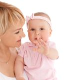 Mother hold baby girl Royalty Free Stock Photography