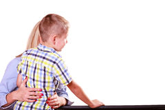 Mother hold son close hug. Stock Photography