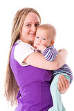 Mother holding baby Stock Images