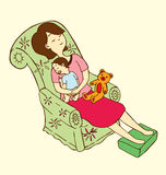 Mother Holding Baby Royalty Free Stock Photography