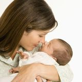 Mother holding baby. Royalty Free Stock Photos
