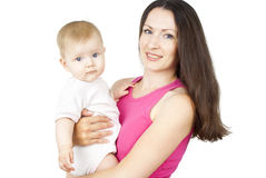 Mother holding a baby Royalty Free Stock Images