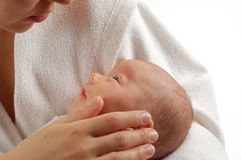 Mother holding baby #7 Stock Images