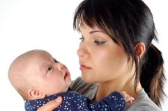 Mother holding baby #7 Stock Photo