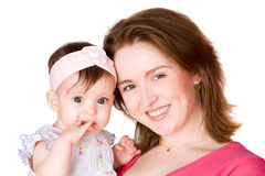Mother holding baby Royalty Free Stock Photo
