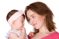 Mother holding baby Stock Photo