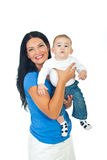 Mother holding baby boy Stock Photography