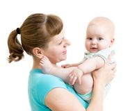 Mother holding baby Stock Image