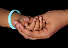 Mother holding baby hand Royalty Free Stock Photos
