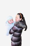Mother holding baby son Royalty Free Stock Photos